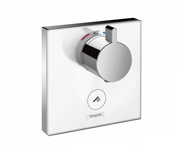 Смеситель Hansgrohe ShowerSelect Highflow термостатический, белый/хром