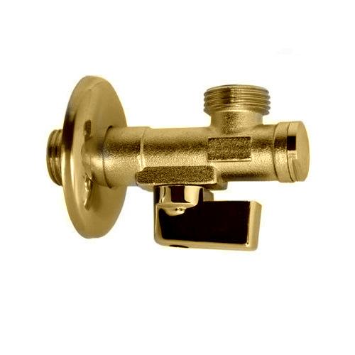 Кран 1/2 х 3/8 Цанга с фильтром (58F) Margaroli арт. 58FGL, золото
