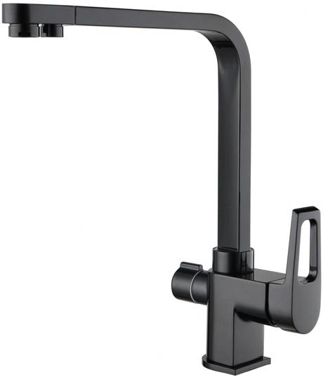 Смеситель Zorg Clean Water ZR 334 YF-BLACK для кухни под фильтр, цвет черный