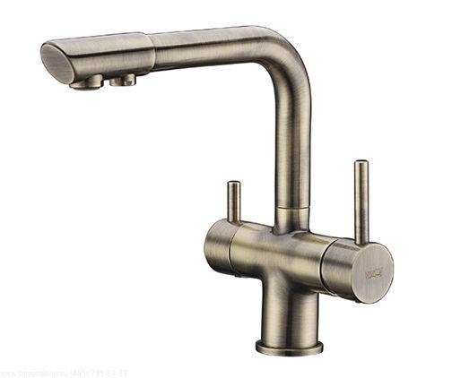 Смеситель WasserKRAFT A8037 для кухни под фильтр, светлая бронза
