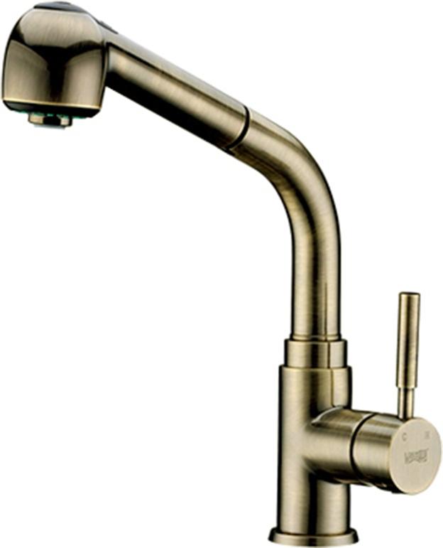 Смеситель WasserKraft A8237 для кухонной мойки, покрытие светлая бронза