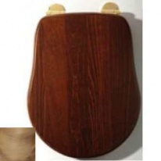 Сиденье для унитаза Migliore Bella ML.BLL-26.110.NC BR, орех/фурнитура бронза