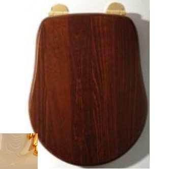 Сиденье для унитаза Migliore Bella ML.BLL-26.110.NC DO, орех/фурнитура золото