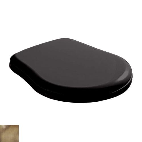 Крышка-сиденье Kerasan Retro 109304 standart, черное глянцевое, петли бронза