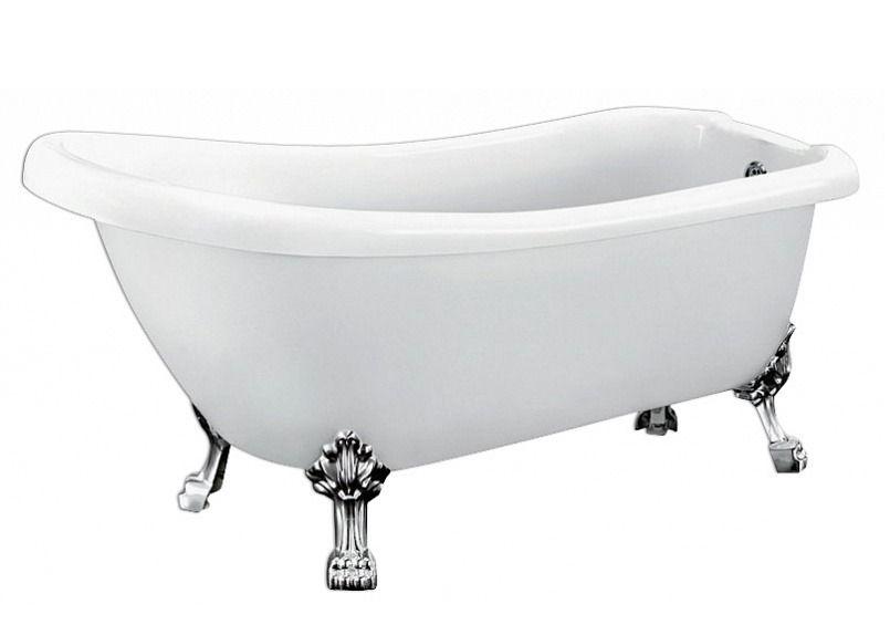 Ванна акриловая BelBagno BB04-CRM 170x80, ножки хром