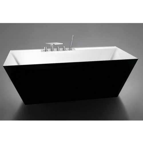 Ванна акриловая BelBagno BB19-NERO/BIA, черная/белая