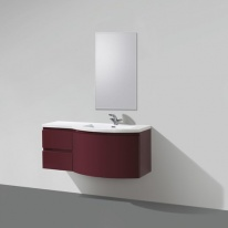 Тумба под раковину BelBagno Prospero PROSPERO-1200-3C-SO-RB-LEFT, Rosso Brilliante/левосторонняя