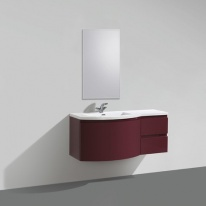 Тумба под раковину BelBagno Prospero PROSPERO-1200-3C-SO-RB-RIGHT, Rosso Brilliante/правосторонняя