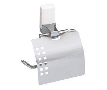 Держатель для туалетной бумаги WasserKRAFT Leine K-5025WHITE, с крышкой