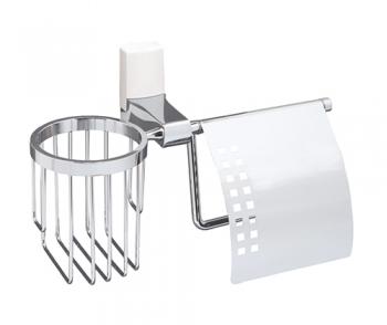 Держатель для туалетной бумаги и освежителя WasserKRAFT Leine K-5059WHITE