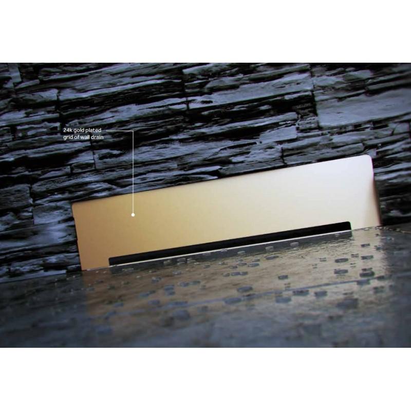 Душевой лоток Pestan Confluo Premium Wall Drain Gold пристенный, золото 13100061