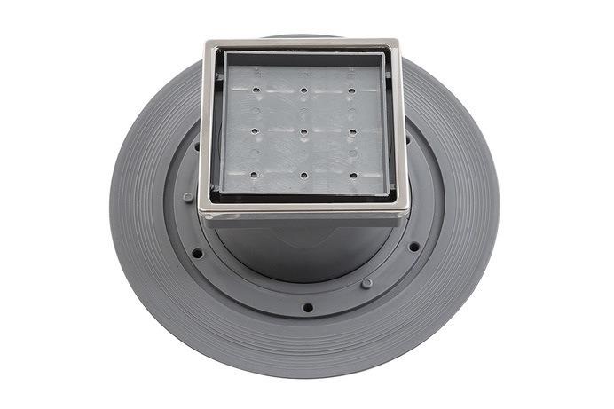 Трап водосток Pestan Confluo Standard Vertical Dry Ceramic 100*100 мм под плитку нержавеющая сталь с рамкой 13000112