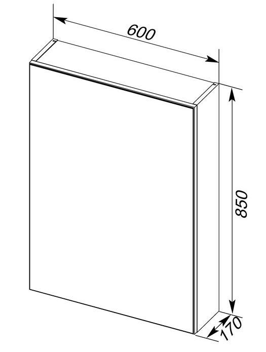 Зеркало-шкаф Aquanet Алвита 60 00183994, цвет белый