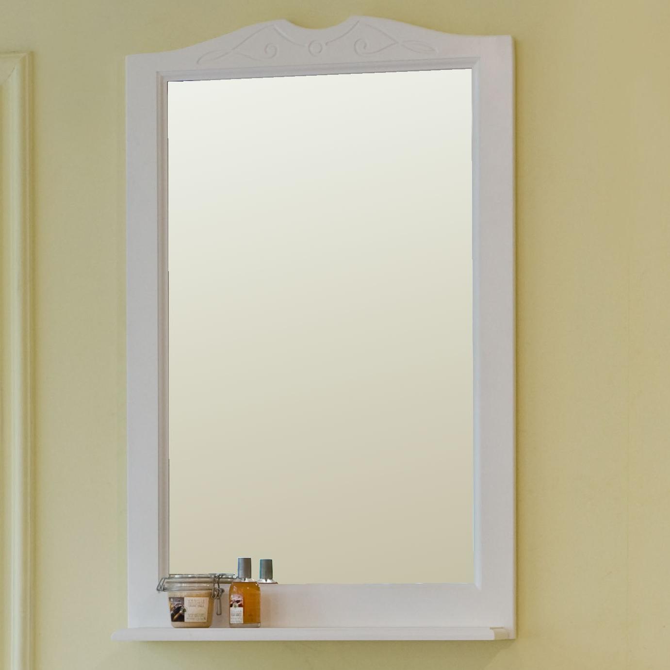 Зеркало Аллигатор МИЛАНА 1-55, цвет белый, 55*99,5*14 см