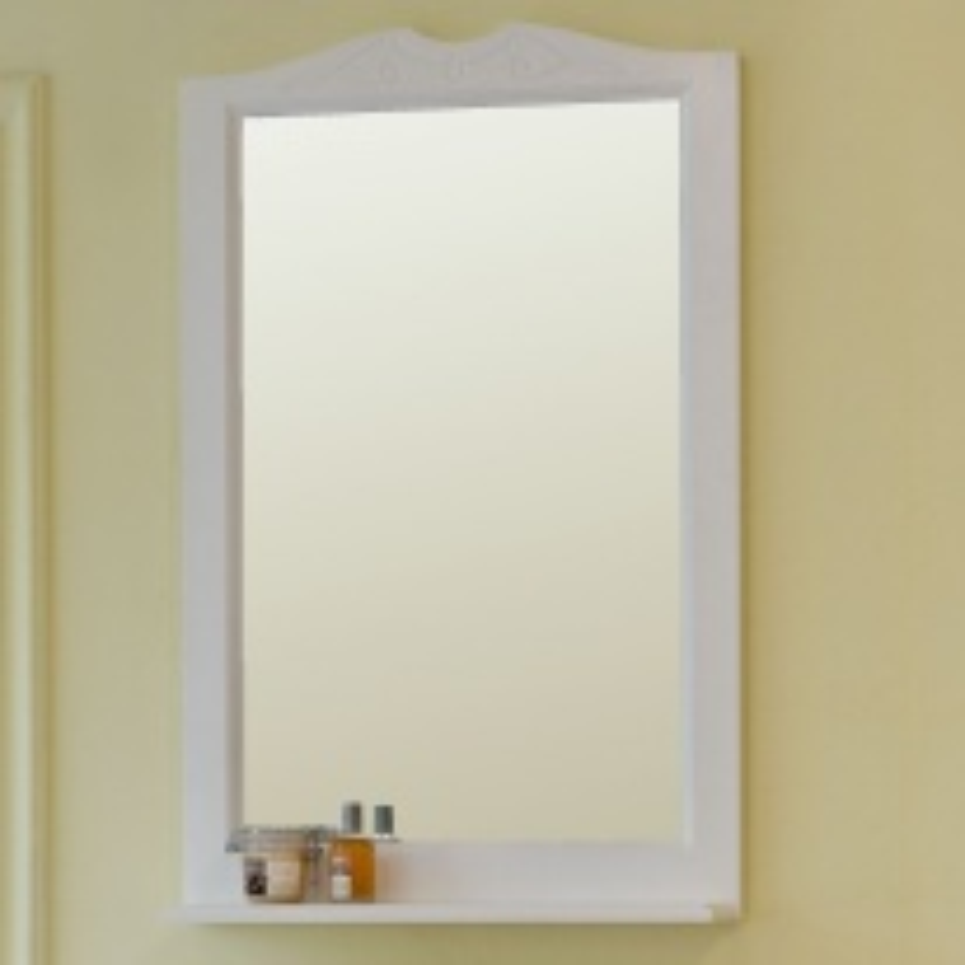 Зеркало Аллигатор МИЛАНА 1-65, цвет белый, 65*99,5*14 см