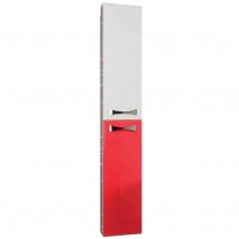 Шкаф-колонна Акватон Диор арт. 1A110803DR940, бело-бордовый, Ш26,2*Г25,4*В163,3 см