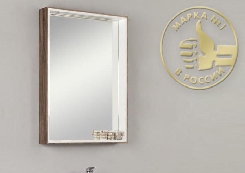 Зеркальный шкаф Акватон Фабиа 65 арт. 1A159702FBAF0, белый/дуб инканто