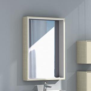 Зеркальный шкаф Акватон Фабиа 65 арт. 1A159702FBPD0, ваниль