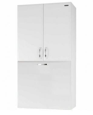 Шкаф над стиральной машиной Vod-ok 60 с бельевой корзиной, цвет белый