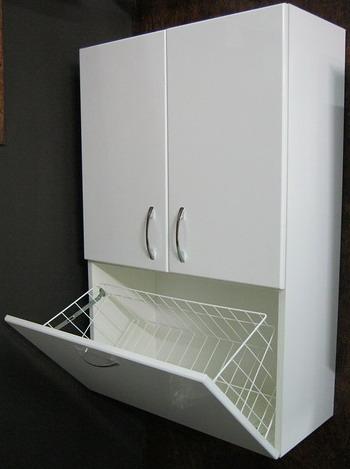 Шкаф над стиральной машиной Vod-ok 60 с бельевой корзиной, цвет дуб