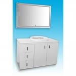 Комплект мебели для ванной комнаты Timo (Тимо) цвет: белый, арт. Т-17182