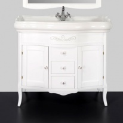 Тумба под раковину Tiffany Sofia Sof 7604 bi puro, 100*54 см, цвет белый матовый Bianco puro
