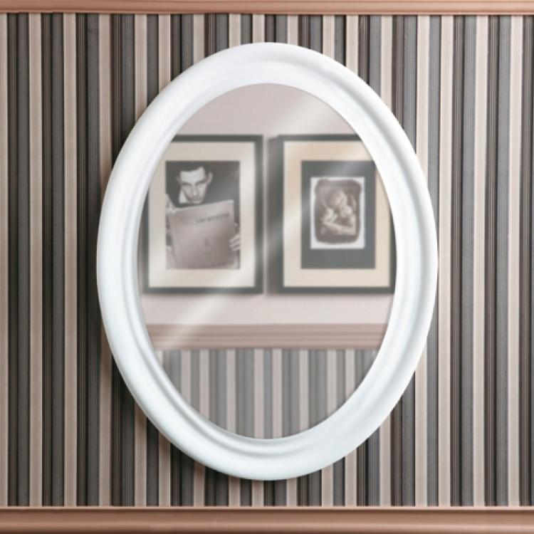 Зеркало Simas Lante LAS1 bi овальное, цвет белый глянцевый