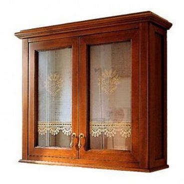 Шкаф подвесной Labor Legno VICTORIA H 0/8, 2 створки, орех/бронза 68*19*63 см