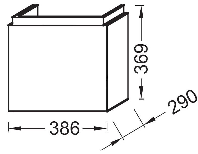 Тумба для раковины Jacob Delafon Rythmik арт. EB1096-N14, серый антрацит
