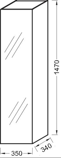 Пенал Jacob Delafon Rythmik EB998-F90, смешанное дерево