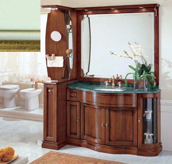 Комплект мебели Eurodesign IL Borgo Композиция № 7, Verde Acqua Gold/Верде аква с золотом