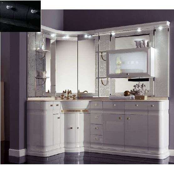 Комплект мебели Eurodesign Luxury Композиция № 15, Nero Lucido/Черный окрашеный