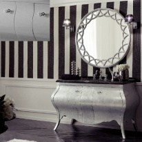 Комплект мебели Eurodesign Prestige Композиция № 3, Tortora Perlato Lucido/Темно-серый пераламутровый глянец