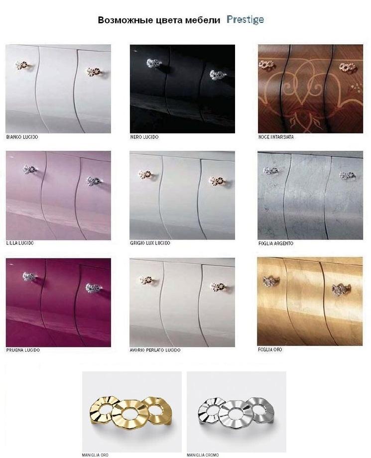Комплект мебели Eurodesign Prestige Композиция № 5, Nero Lucido/Черный окрашеный