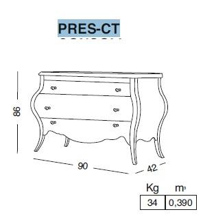 Комплект мебели Eurodesign Prestige Композиция № 6/B, Grigio Lux Lucido/Серый глянцевый