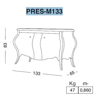 Комплект мебели Eurodesign Prestige Композиция № 7, Nero Lucido/Черный окрашеный