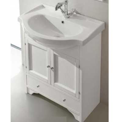 Комплект мебели для ванной Eban Carla 75 FBSCR075-B bi decape*4, белый