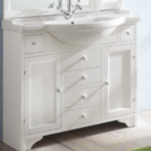 Комплект мебели для ванной Eban Eleonora 105 FBSEL105-B bi decape*8, белый