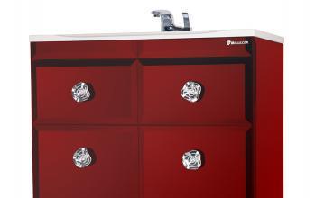 Тумба с раковиной Bellezza LUSSO (ЛУССО) 65, напольная, цвет - красный