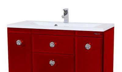 Тумба с раковиной Bellezza LUSSO (ЛУССО) 90, напольная, цвет - красный