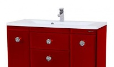 Тумба с раковиной Bellezza LUSSO (ЛУССО) 100, напольная, цвет - красный