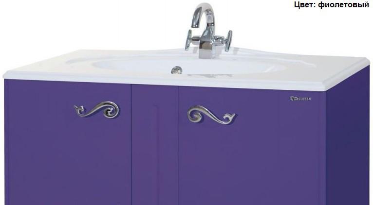 Тумба с раковиной Bellezza Эстель 80, напольная, цвет фиолетовый