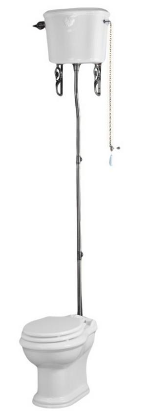 Унитаз напольный с высоким бачком Migliore Impero, фурнитура хром