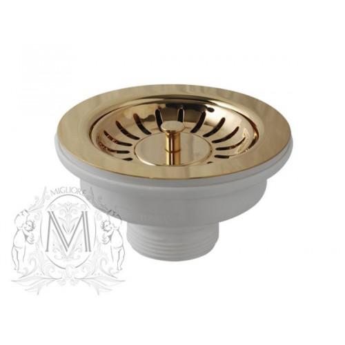 Слив для кухонной мойки Migliore Ricambi ML.RIC-10.107.BR D 90 см, бронза