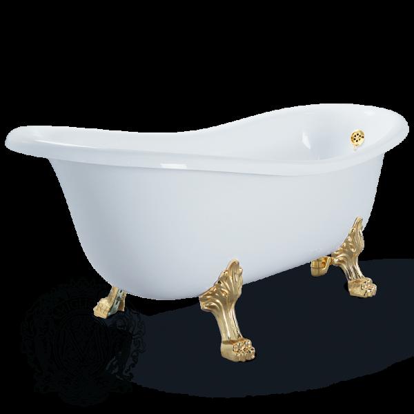 Ванна из литьевого мрамора Migliore BELLA ML.BLL-40.402 DO на лапах Migliore, фурнитура золото, 170*80*64 см