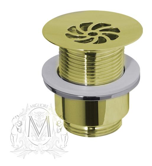 Донный клапан Migliore без перелива арт. ML.RIC-10.125DO - золото