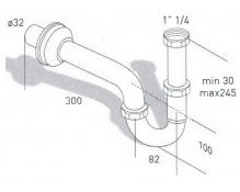 Сифон для раковины Migliore ML.RIC-10.101BR - бронза, Ø32