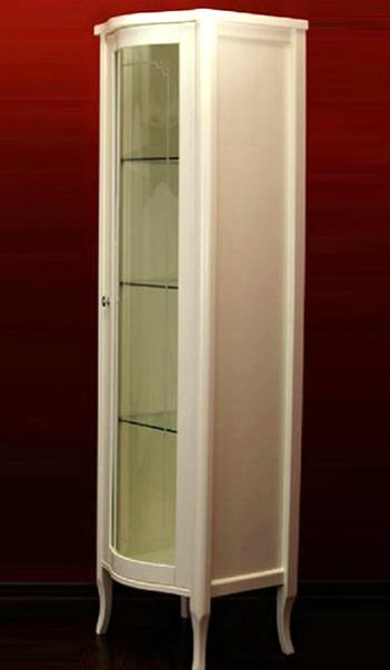 Витрина Migliore Bella ML.BLL-VT451.DS со стеклянной дверцей, слоновая кость