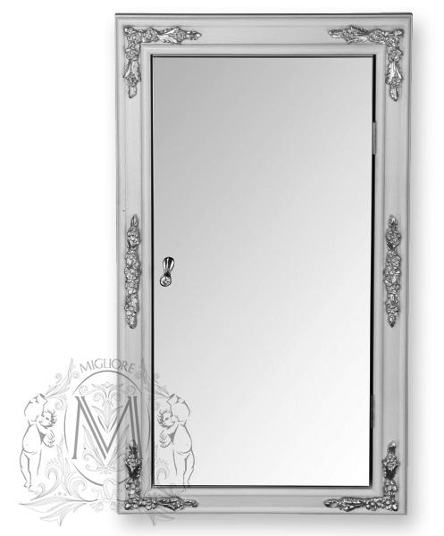 Витрина Migliore Bella Ml.com-70.772 настенная угловая, аворио/серебро