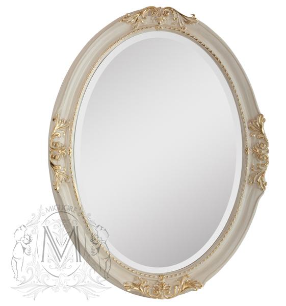 Зеркало Migliore Complementi ML.COM-70.503.AV.DO - белое золото